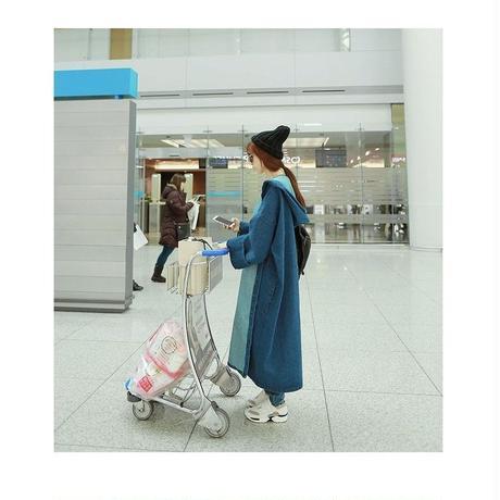 デニムロングコート 韓国 ファッション K30048