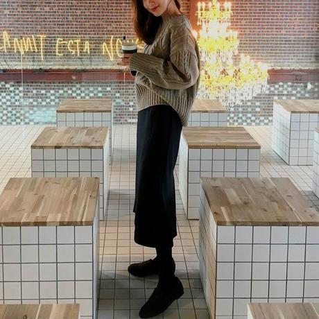 大きいサイズ レディース ロングスカート スリットスカート ハイウエスト 韓国ファッション オルチャン S30071