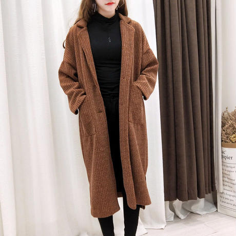ボアコート アウター レディース ふわふわ 無地 シンプル ロングコート リブニット ロングコート 韓国 ファッション K30064