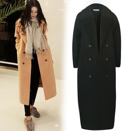 コート ロング チェスターレディース チェスターコート 超ロングコート 大きいサイズ 2XL 韓国 ファッション K30012