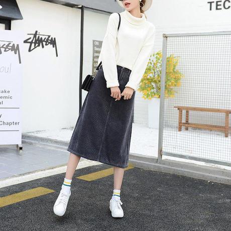 ロングコーデュロイスカートスカート レディース ロングスカート フレア 韓国ファッション 新作 S30068