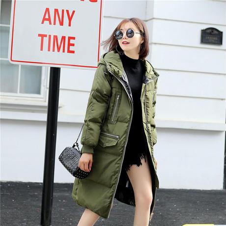 モッズコート レディース 大きいサイズ 女性用 ファー フード付 ミリタリーコート 韓国ファッション秋冬 K30080