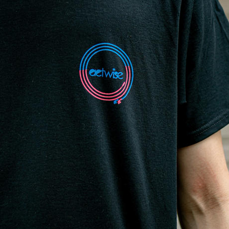 actwise x Portable Music PlayerTシャツ(BLACK)