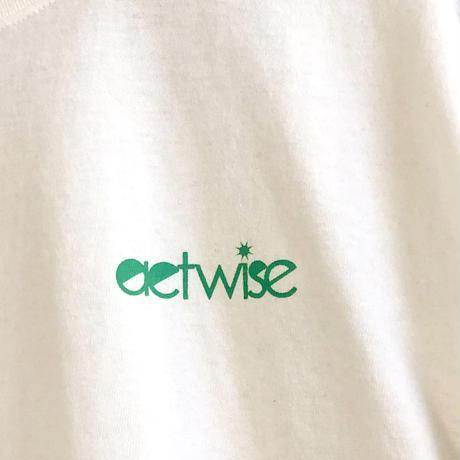 actwise  ロゴTシャツ(シンプルホワイト)