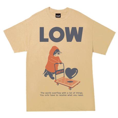 かわうそカート Tシャツ(TAN)