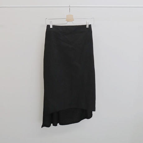 [ sample SALE ] two fabrics asymmetry skirt