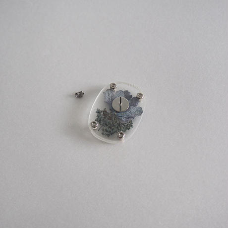 / watering / layered memories earring -紫陽花 no.2019-