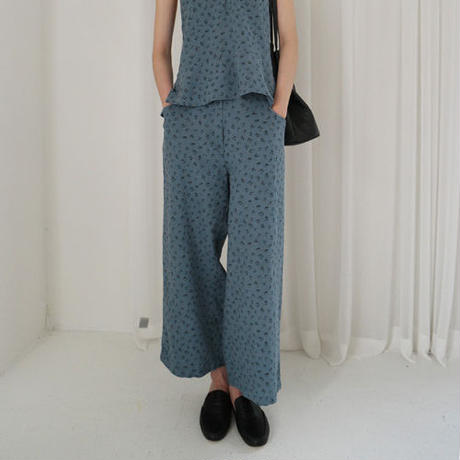 summer flower linen pants (set item)