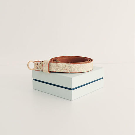 / TULIP EN MENSEN / loop belt [ white ]