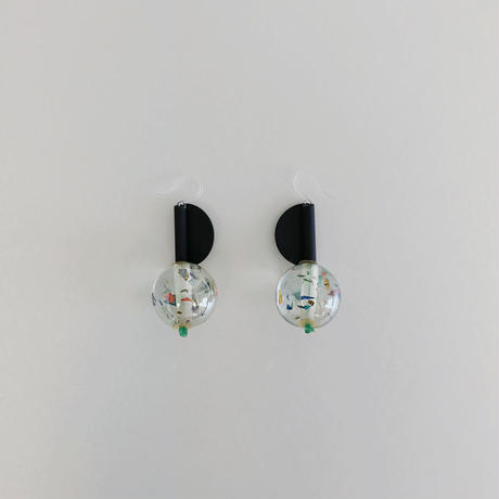 / youngly youngley / Halfdome earrings -multi-