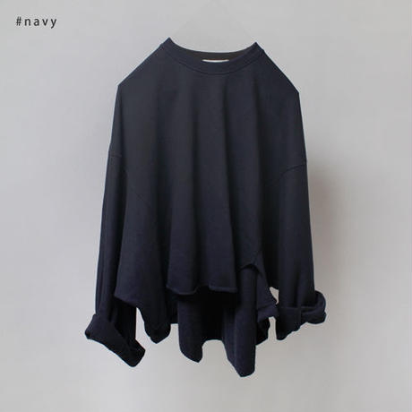 -2 colors- over fit asymmetry sweat