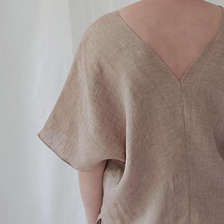 herringbone V neck pullover