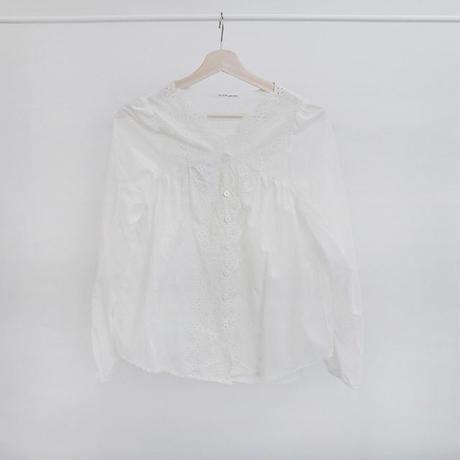 [ sample SALE ] scallop lace blouse