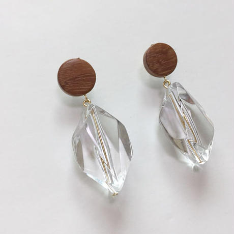 clear drop pierced earrings