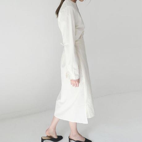 wrap design shirt dress