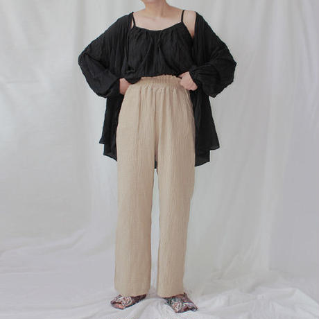 -2 colors- cotton gauze eazy pants