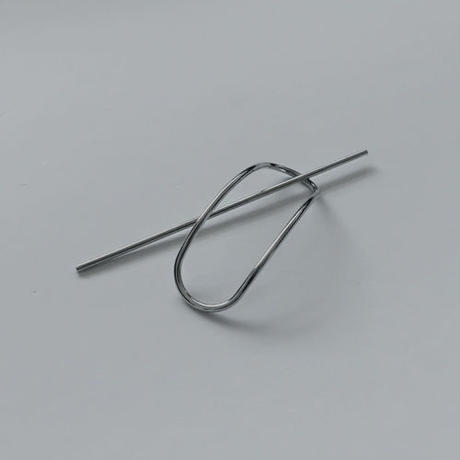minimal silver hair stick