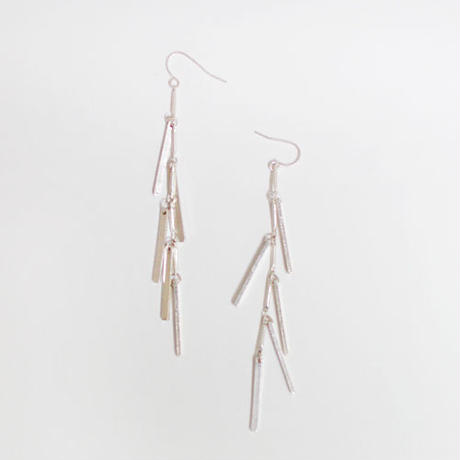 floated fringe pierced earrings