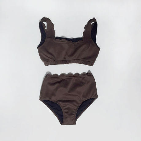 -3colors- scallop design swimsuit