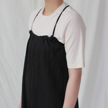 -2colors- washed linen smock overall