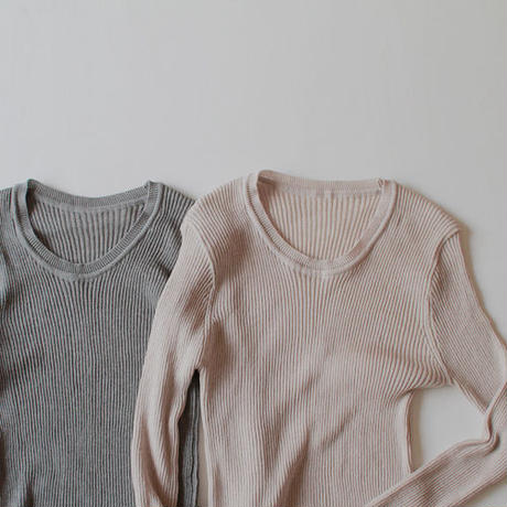 -2 colors- sensitive basic knit