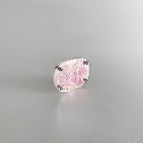 / watering / layered memories earrings -pink rose no.1943-