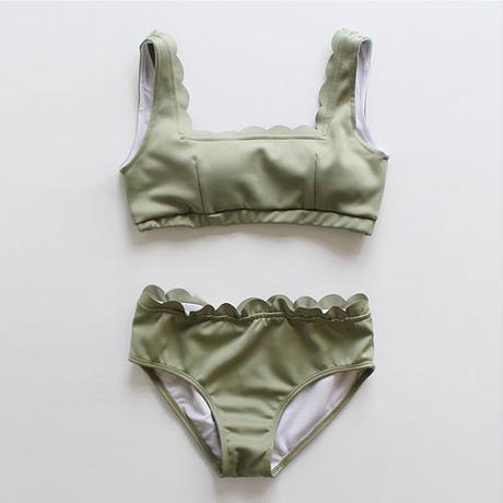 scallop design swimsuit