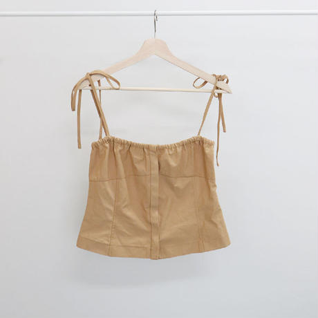 [ sample SALE ] cotton gather bustier