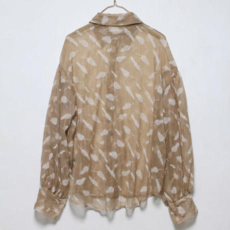 feather pt chiffon blouse
