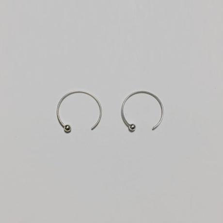 -silver 925- minimal circle hook pierced earrings
