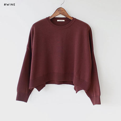 -3colors- cropped design sensitive knit