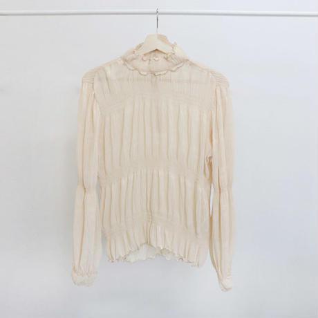 [ sample SALE ] gathered chiffon blouse