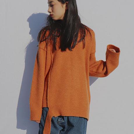 V-neck tale knit