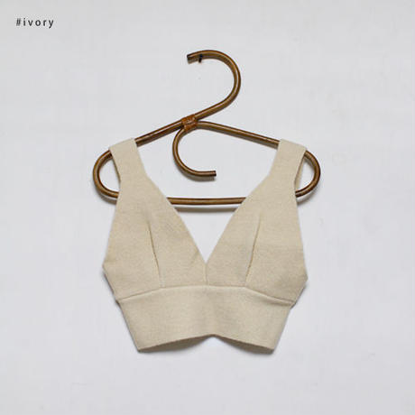 -3colors- knit bustier