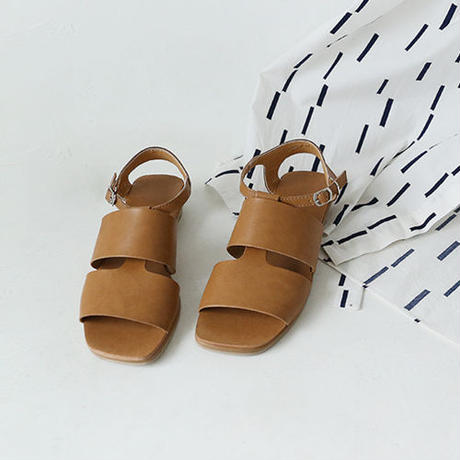 △10%off△square toe leather strap sandal