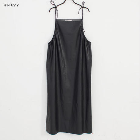 -2 colors- string leather cami dress