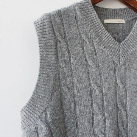 V neck over fit knit onepiece