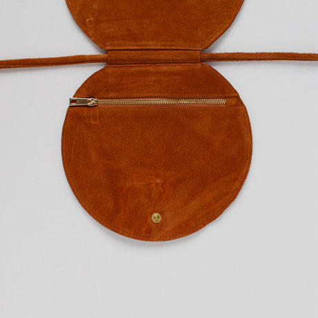 cow leather rounded waist bag