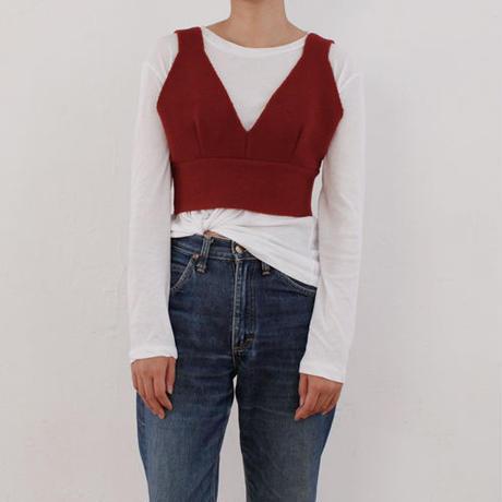 -3colors- knit bustier