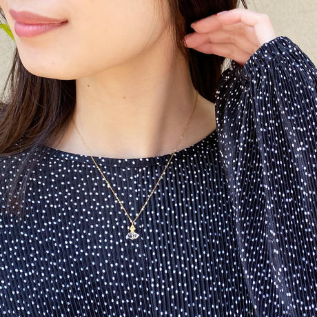 perfume bottle series necklace <herkimer quartz>