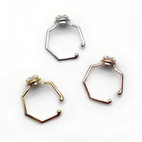 perfume bottle series earcuff Msize<cubic zirconia>