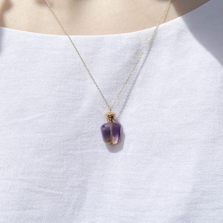 perfume bottle series necklace <ametrine>  K10