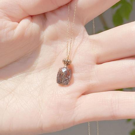 perfume bottle series necklace <tourmaline quartz>  K10