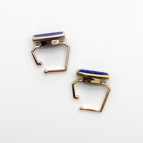 perfume bottle series earcuff Square size<lapis lazuli>