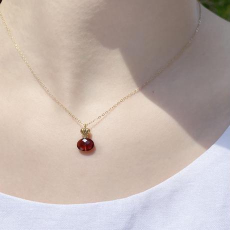 perfume bottle series necklace <garnet>