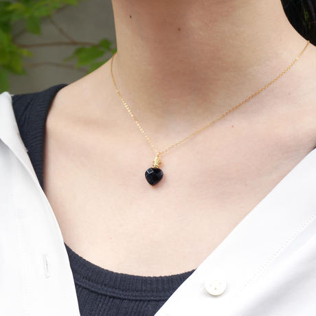 perfume bottle series necklace <onyx>