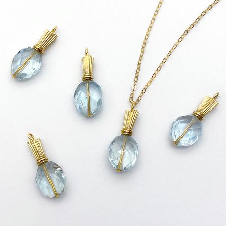 perfume bottle series necklace <aquamarine>