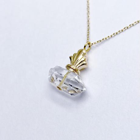 perfume bottle series necklace <herkimer quartz>  K10
