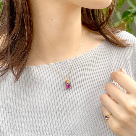 perfume bottle series necklace <ruby>