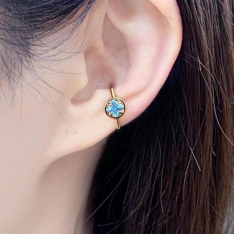 perfume bottle series earcuff Msize<swiss blue topaz>